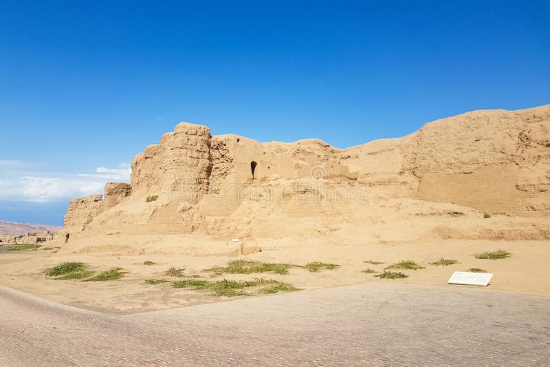 Ruins of Gaochang, Turpan, China. Dating more than 2000 years, they are the oldest ruins in Xinjiang. Ruins of Gaochang, Turpan, China. Dating more than 2000 royalty free stock photo