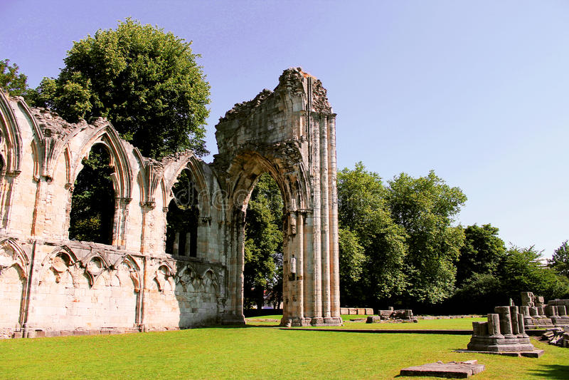 Ruins in a Garden royalty free stock photo