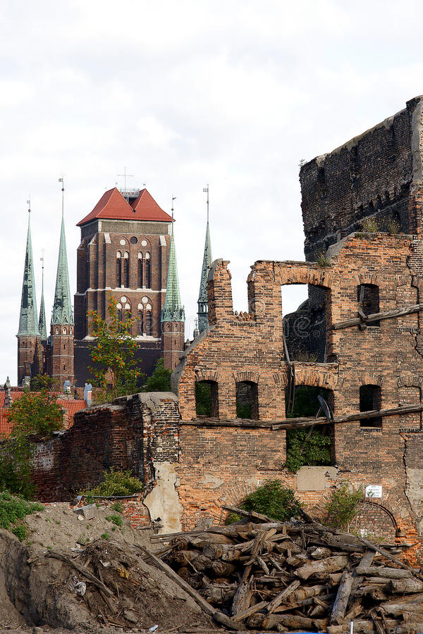 Download Ruins of Gdansk stock photo. Image of awa, archeology - 32469964