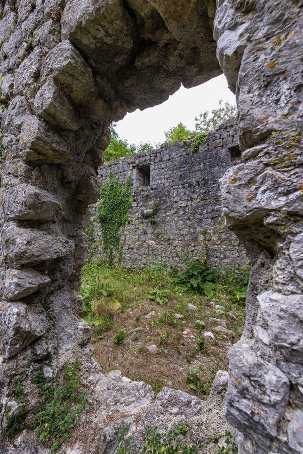 Ruins of Gradec fortification on Krk island, Croatia royalty free stock image