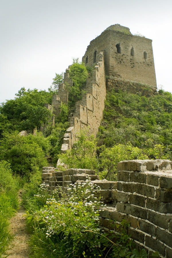 Ruins of the great wall stock image