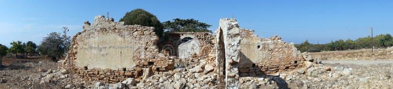 Ruins of greek church. On the Dipkarpass peninsula, North Cyprus stock images