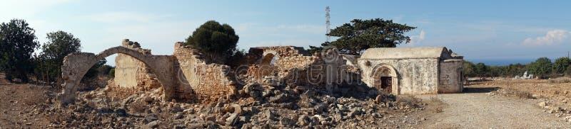 Ruins of greek church. On the Dipkarpass peninsula, North Cyprus royalty free stock image