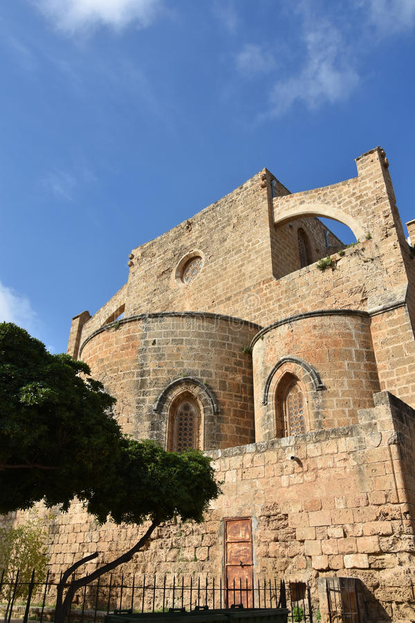 Ruins of Greek church of St. George and St. Nicolas stock photos