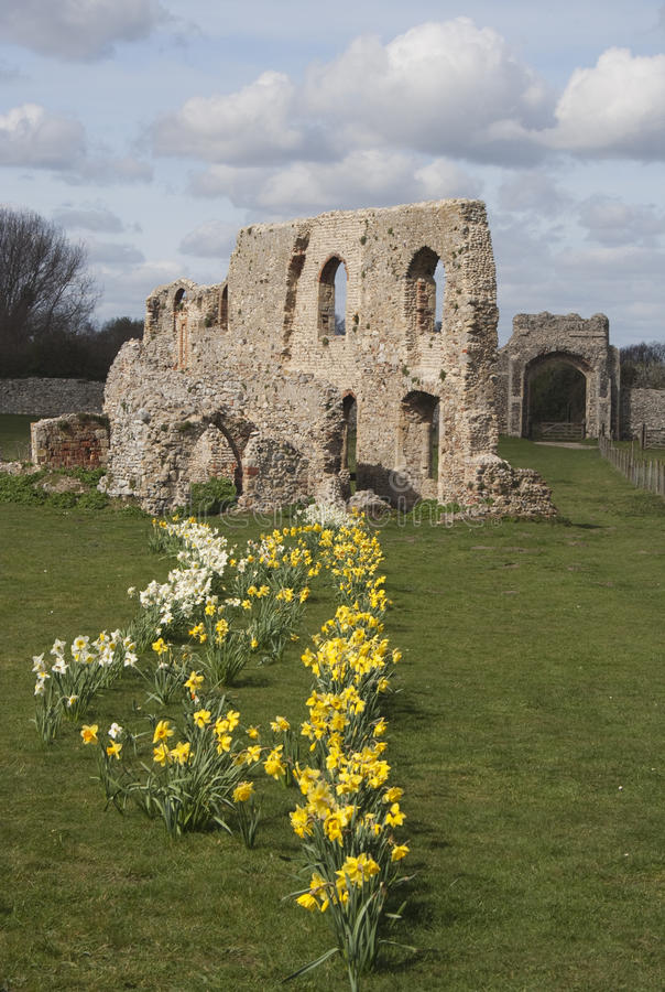 The Ruins of Greyfriars Friary, Suffolk. The ancient ruins of Greyfriars Friary, Suffolk stock photos