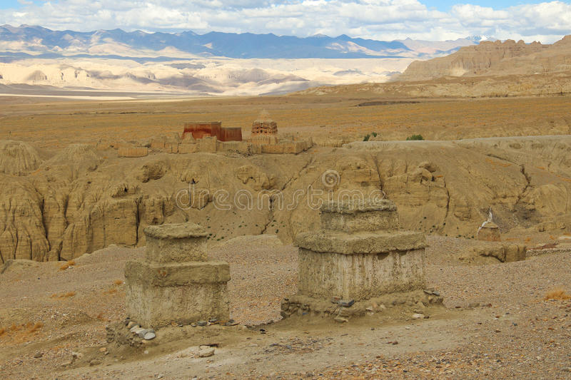 Ruins of guge dynasty in Tibet. Is an ancient kingdom in Tibet guge dynasty, here is the ruins of guge dynasty royalty free stock photography