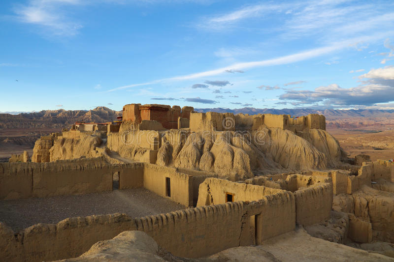 Ruins of guge dynasty in Tibet. Is an ancient kingdom in Tibet guge dynasty, here is the ruins of guge dynasty stock photos