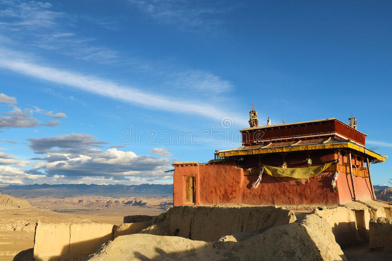 Ruins of guge dynasty in Tibet. Is an ancient kingdom in Tibet guge dynasty, here is the ruins of guge dynasty royalty free stock photo