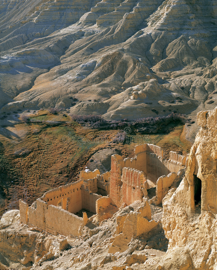 Ruins of guge kingdom. This ancient relic is a part of the Ruins of Guge Kingdom in Ngari, Tibet. The ruins of the Guge Kingdom are in Zanda County in southern royalty free stock photos