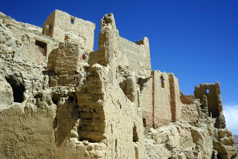 Ruins in Guge Kingdom. TOLING, CHINA - CIRCA MAY 2017 Ruins in Guge kingdom royalty free stock photo