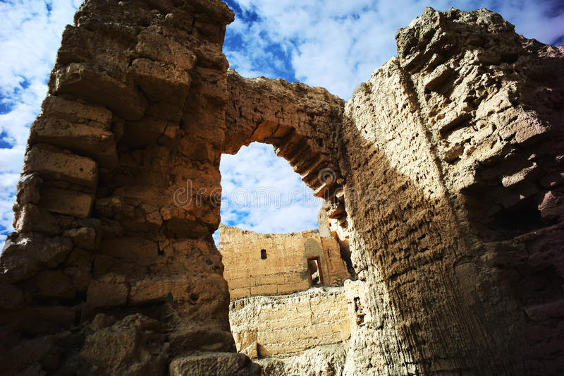 Ruins of guge ruins. China's xinjiang region of ruins of guge sites ali royalty free stock image