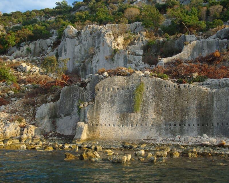 Download Ruins Of Half-sunken Ancient Town Simena Stock Image - Image: 11423113
