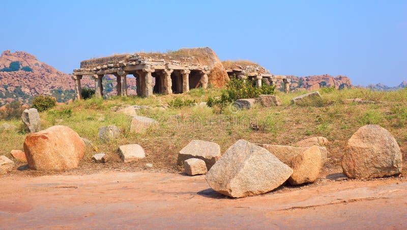 Ruins of Hampi royalty free stock photos