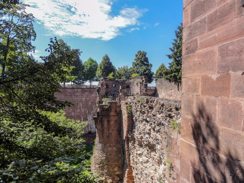 Ruins of Heidelberg Castle stock photography