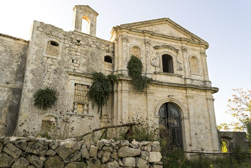 Ruins of Hermitage of Santa Maria della Provvidenza in Noto, Sicily - Italy. Ruins of Hermitage of Santa Maria della Provvidenza in Noto, Province of Syracuse stock photography