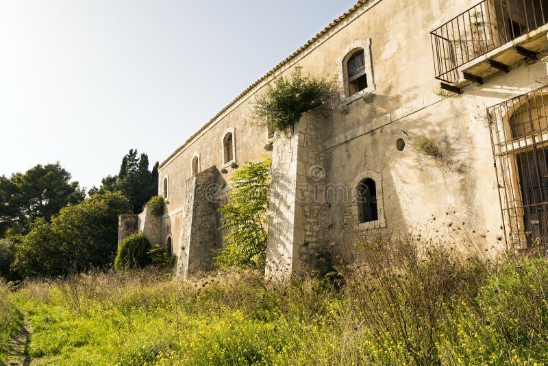 Ruins of Hermitage of Santa Maria della Provvidenza in Noto, Sicily - Italy. Ruins of Hermitage of Santa Maria della Provvidenza in Noto, Province of Syracuse royalty free stock photography
