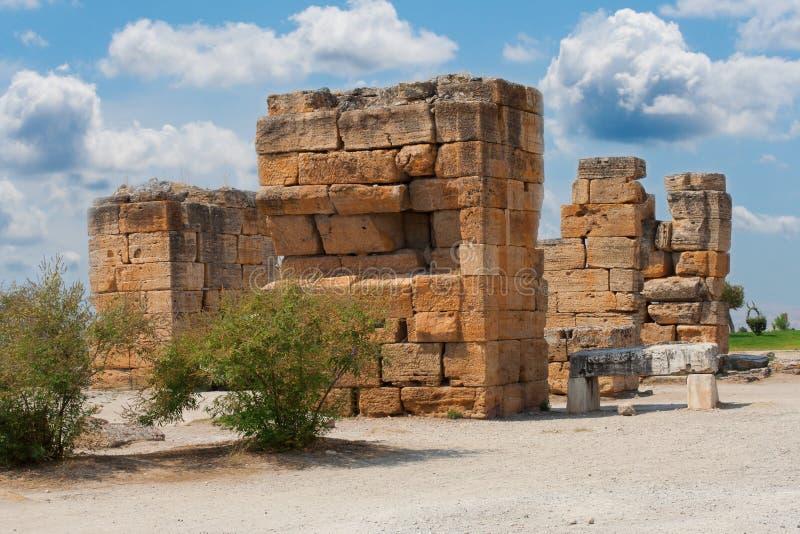 Ruins of Hierapolis stock photo