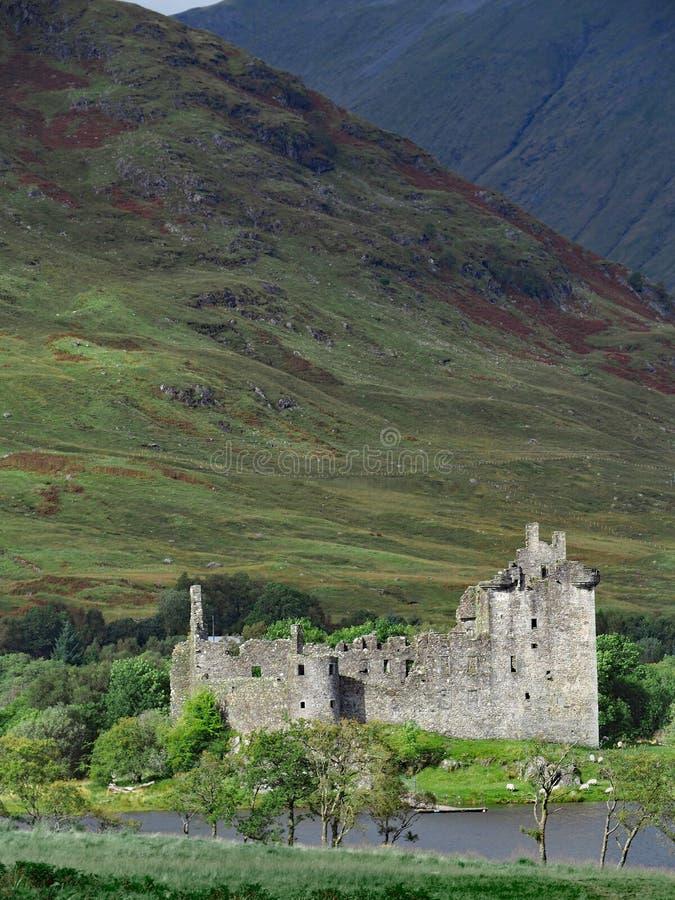 Ruins of a Highland Castle stock photos