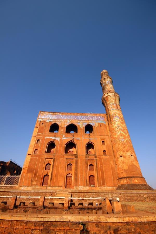 Ruins of historic Madrasa in India stock photos