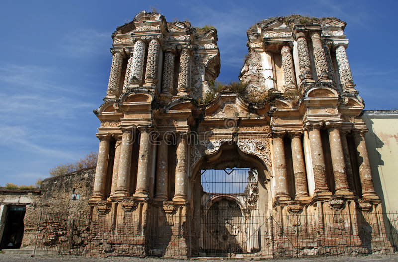 Ruins of the Iglesia de El Carmen church royalty free stock photo