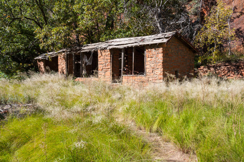 Ruins of an Indian house in Sedona Arizona stock images