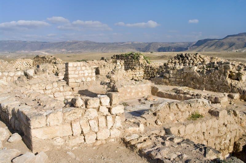 Ruins Khor Rouri in Oman stock photography
