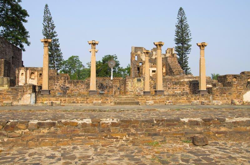 Ruins of Kittur fort, Karnataka stock images