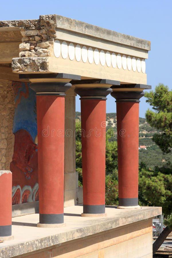 Download The ruins at Knossos stock image. Image of exterior, column - 15813013