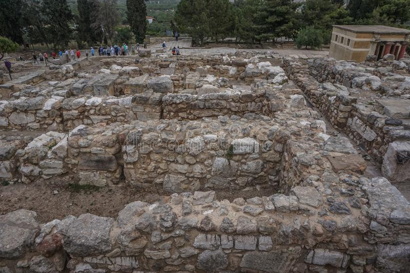 The Ruins of the Knossos Palace in Greece royalty free stock photo