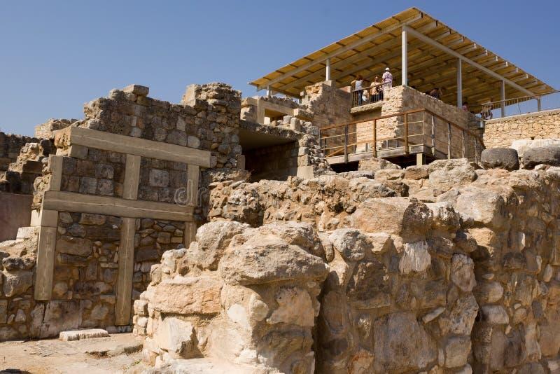 Ruins of Knossos Palace, south of Heraklion - very popular amon royalty free stock photo