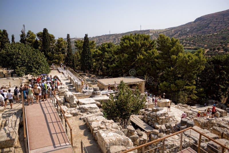Ruins of Knossos Palace, south of Heraklion - very popular amon stock photos