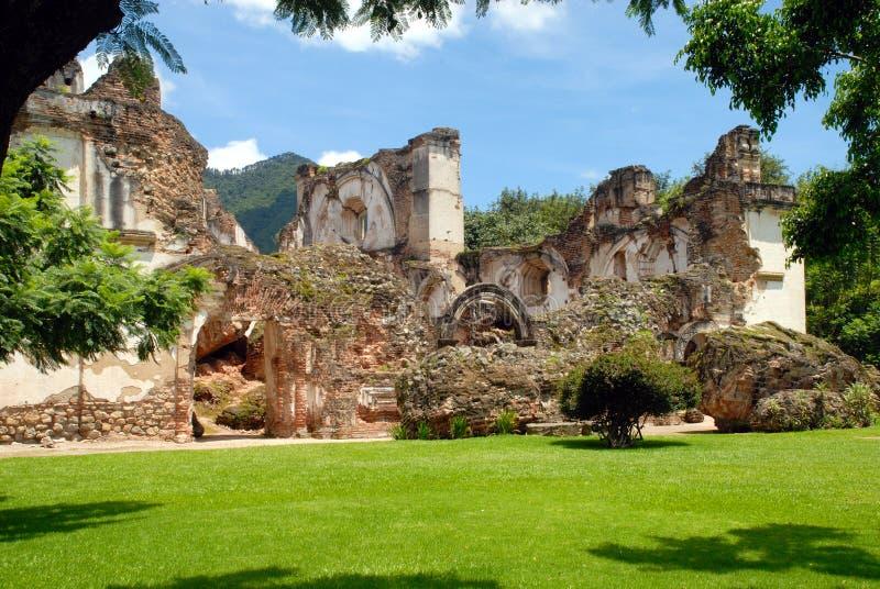 Ruins of La Recoleccion, Church. Of Antigua Guatemala stock image