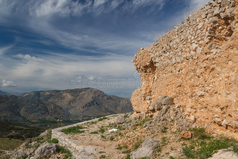 Ruins of Larissa castle royalty free stock images