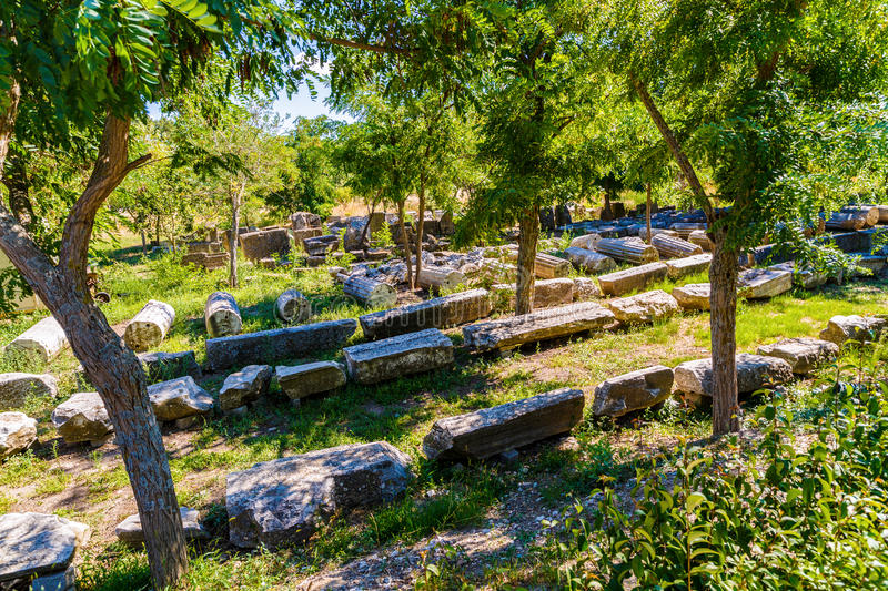 Ruins of the legendary ancient city of Troy. The ruins of the legendary ancient city of Troy. Turkey stock photography