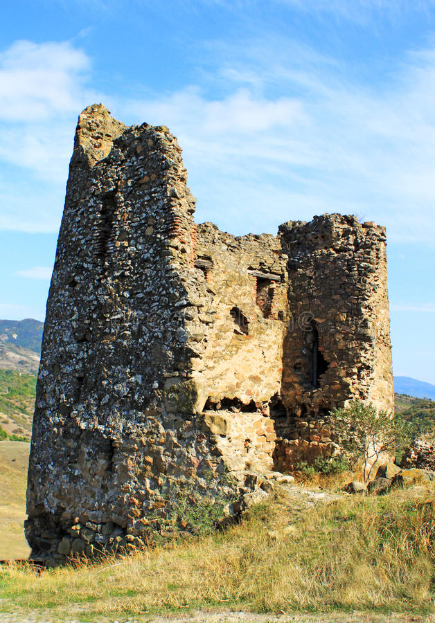 Ruins of Little chapel near Jvari church royalty free stock image