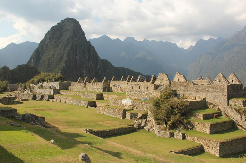 The ruins of Machu Picchu royalty free stock photography