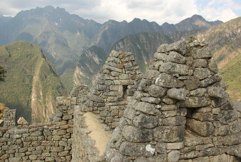 The ruins of Machu Picchu royalty free stock photos