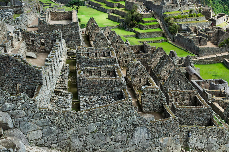 Ruins of Machu Picchu stock photography
