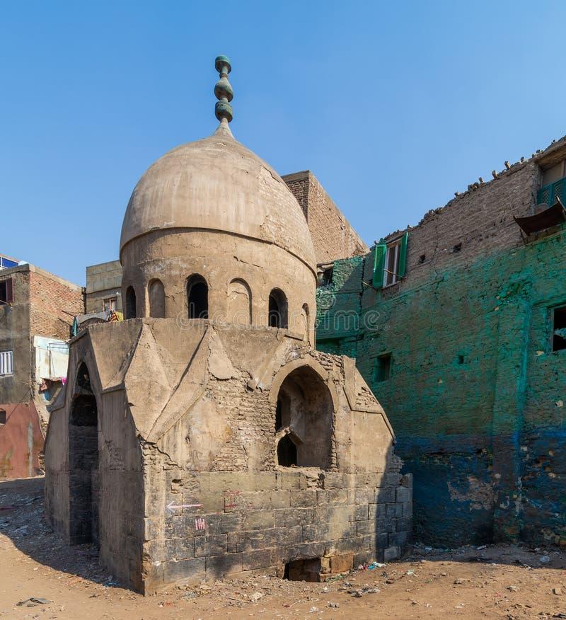 Ruins of Mausoleum of Sidi Al Komi, Old Cairo, Egypt. Ruins of Mausoleum of Sidi Al Komi, Darb el Labbana district, Old Cairo, Egypt royalty free stock photo