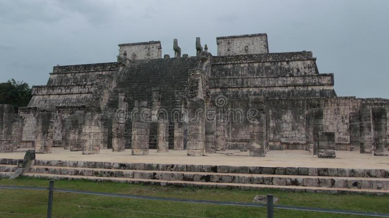 Ruins of the Mayan culture in Chichen Itza royalty free stock photography