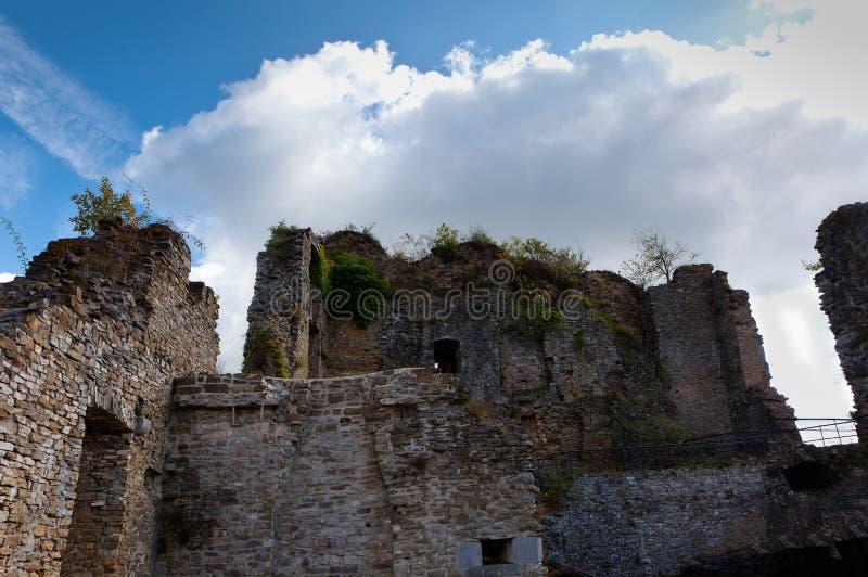 Ruins medieval castle Franchimont, Theux, Liege, Belgium royalty free stock photo