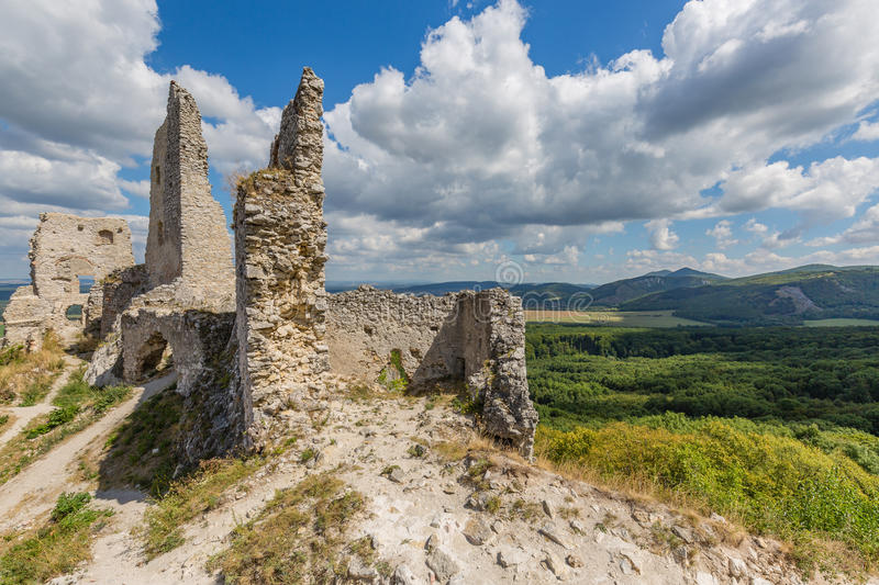 Ruins of medieval castle royalty free stock images