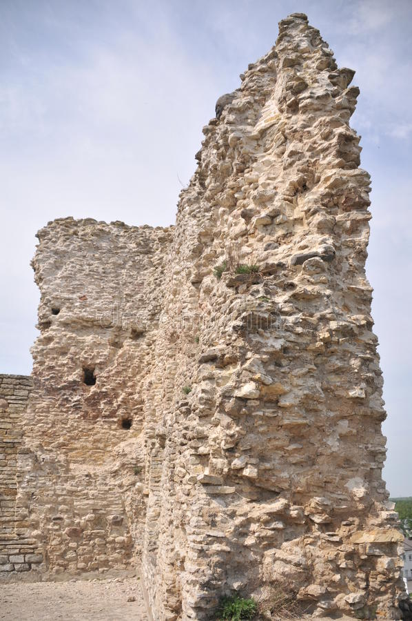 Ruins of medieval castle stock photo