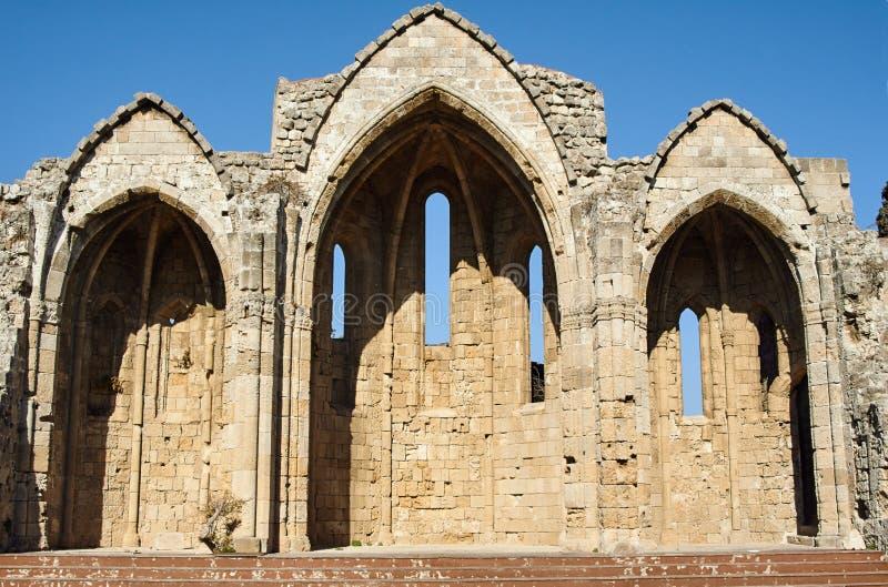 Ruins of a medieval church royalty free stock photos
