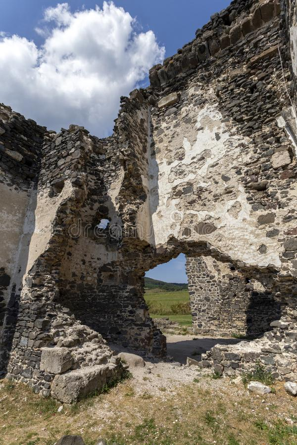 Ruins of the medieval St. Andrew church in Taliandorogdi, Hungary.  royalty free stock photo
