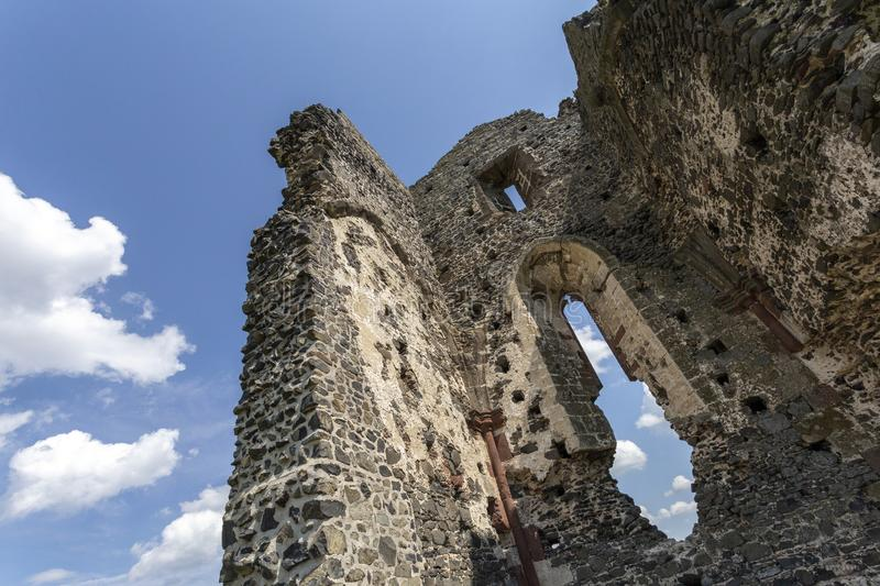Ruins of the medieval St. Andrew church in Taliandorogdi, Hungary.  stock photography