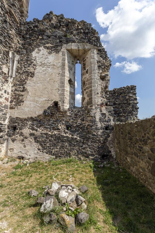 Ruins of the medieval St. Andrew church in Taliandorogdi, Hungary.  royalty free stock photography