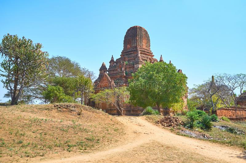 The ruins of the temple in Bagan, Myanmar stock images