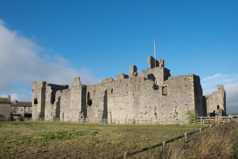 Ruins of Middleham Castle, Yorkshire stock image