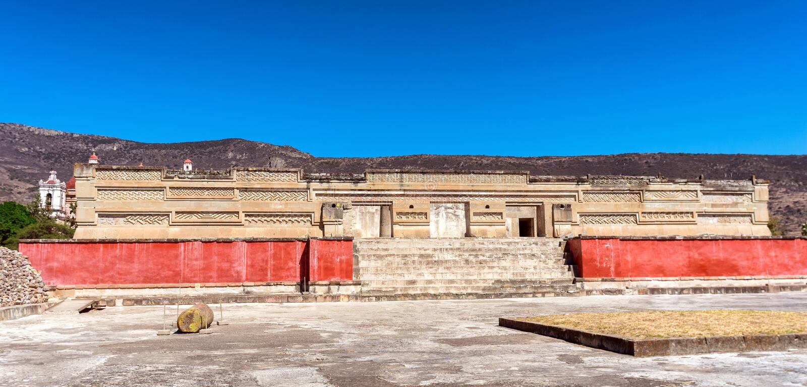 Ruins in Mitla near Oaxaca city. Mexico royalty free stock images